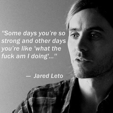 This quote is whatever but I ❤️ Jared Leto ... So I'm automatically melting. I think it's the eyes and perfect nose