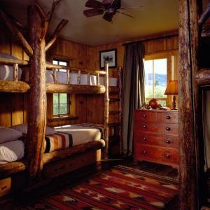 Rustic cabin bedroom - love the Western Theme!