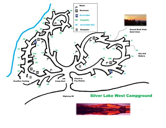 silver lake campground map Silver Lake West Campground Map Silver Lake Campground Lake silver lake campground map