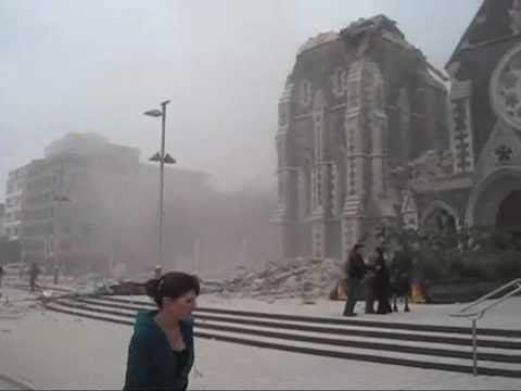 Chilling footage from seconds after Christchurch earthquake - YouTube
