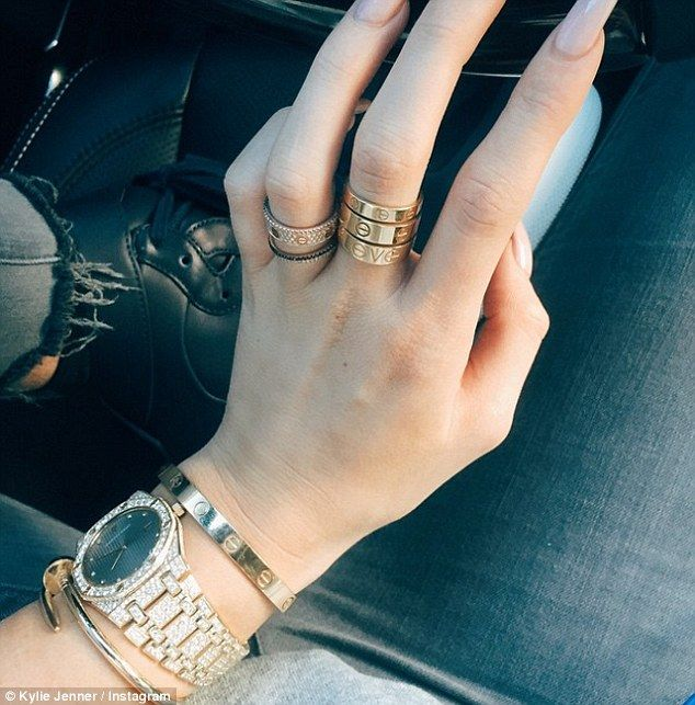 Popular: The rings are big favorites among celebrities, including Jaden's ex girlfriend Kylie Jenner (pictured)