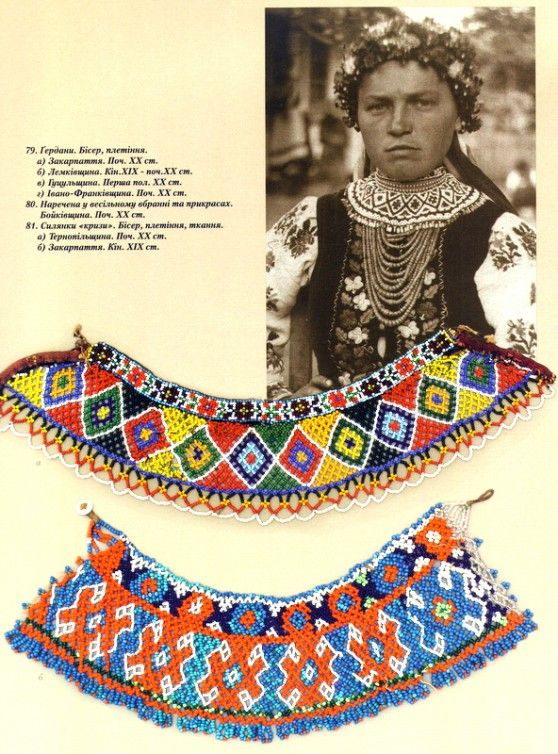 Traditional Ukrainian beadwork.