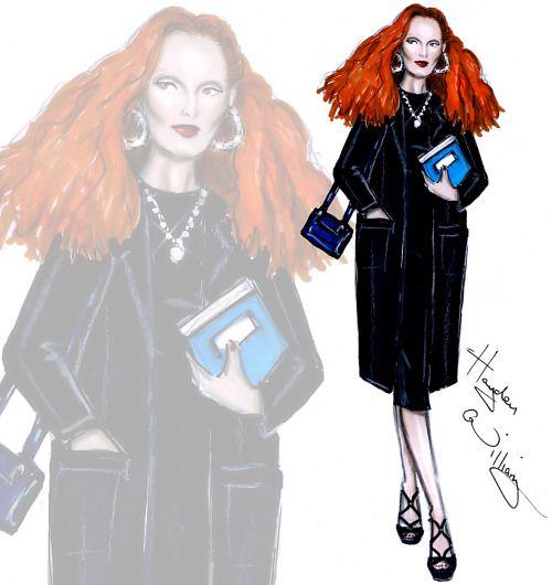 Diretor de Criação da Vogue americana Graça Coddington por Hayden Williams