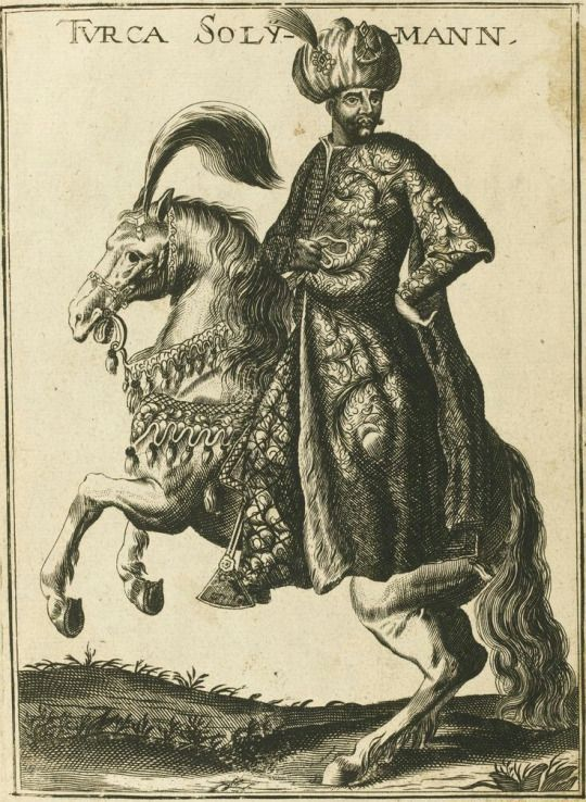 Sultan Soleiman on Turkish Akhal Teke Horse - Enderlin Jacob, 1689.