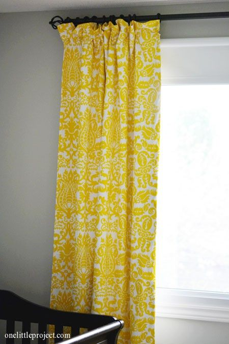 Make your own bright yellow curtains