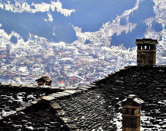 Overlooking  Metsovo covered in snow, http://anesisrooms.tumblr.com/post/100736383378