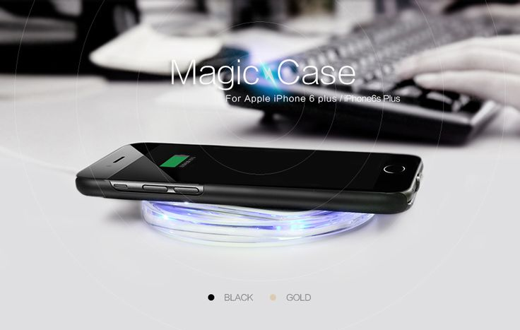 10pcs/lot Nillkin Magic Qi Standard Wireless Charging Receiver Back Cover Case for Apple iPhone 6s plus/iphone 6 plus Magic Case #Affiliate
