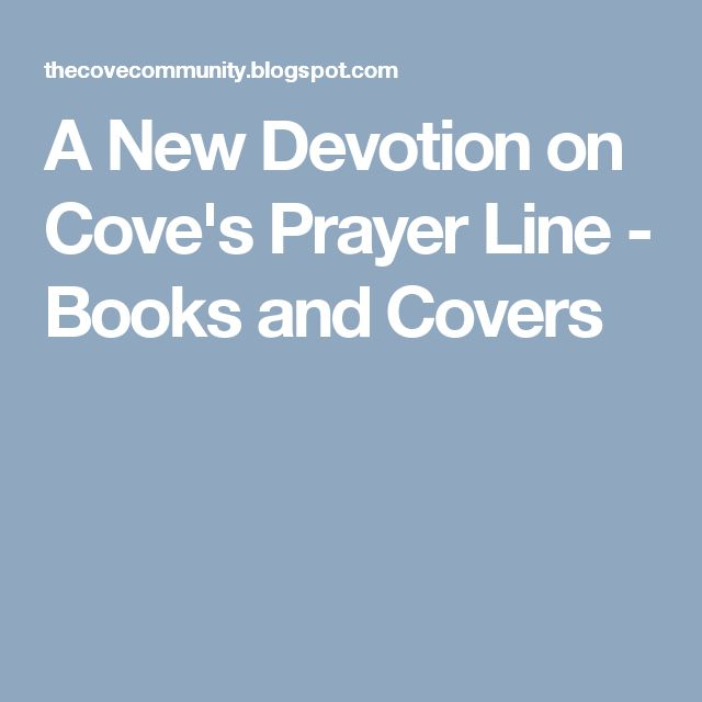 A New Devotion on Cove's Prayer Line - Books and Covers