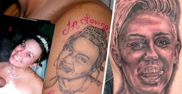 Esta publicación es una compilación de los tatuajes más horribles del mundo sólo pueden justificarse si las personas se los pusieron con unas 500 copas demás.
