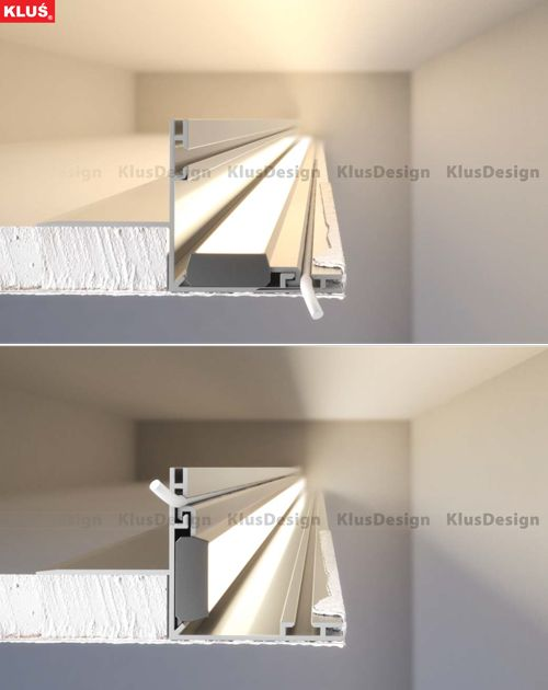 ambient lighting fixtures. The NISANI Extrusion Is Mounted On Edge Of Recess Once Sealed Ambient LightLighting DesignThe EdgeInnovationAestheticsLed Lighting Fixtures P