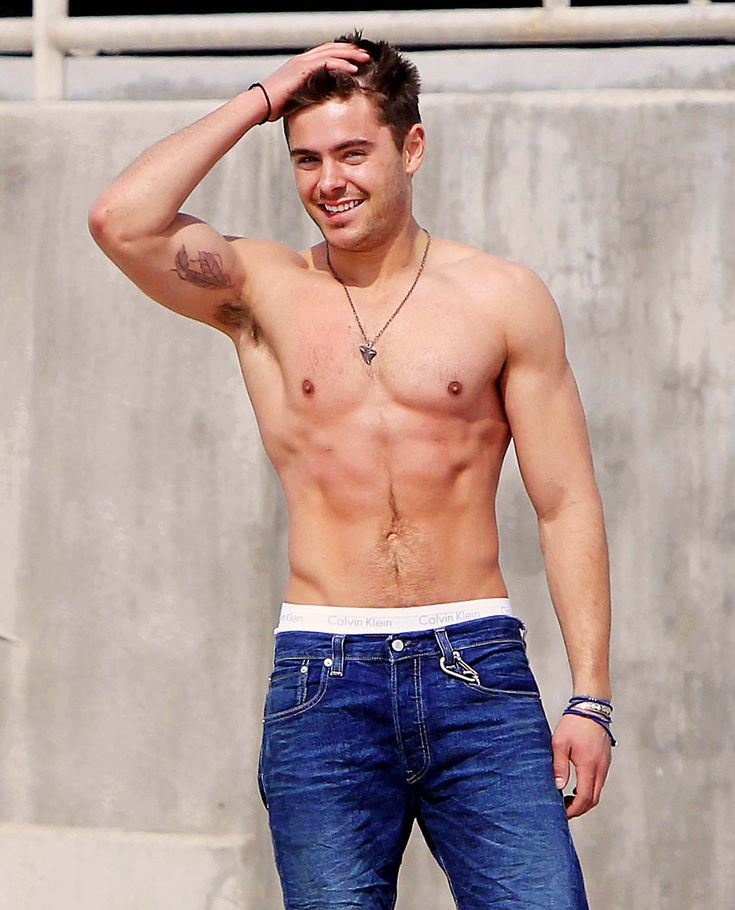 Zach Efron shirtless. Good heavens above