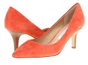 Orange Shoes for Women - Top Picks for 2013: Diane Von Furstenberg 'Anette 70mm' - Pretty Orange Shoes