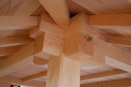 Japanese Roof Joinery by MickL, via Flickr