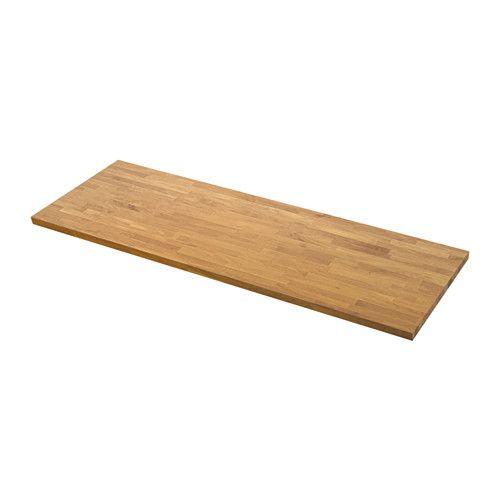 IKEA - SKOGARP, Maatwerkblad, 63.6-125x4.0 cm, , Gratis 25 jaar garantie. Raadpleeg onze folder voor de garantievoorwaarden.Het werkblad wordt op maat gemaakt voor je keuken. Kies een passende diepte (10-125 cm) en lengte (max. 4 m zonder naden).Massief hout is een natuurproduct met een speciale uitstraling. Normale variaties in kleur, structuur en uiterlijk zijn o.a. afhankelijk van de groei en leeftijd van de boom, en geven het product zijn persoonlijke karakter.Massief hout is een…