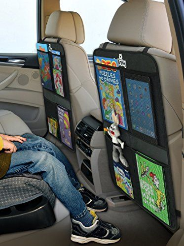 Kick Mats + 2 Extra Large Organizer Pockets - Deluxe Backseat Protector As Seat Covers For Car, SUV, Minivan or Truck - Vehicle Back Seats & Kids Safety Accessories - Universal Automotive Protectors Smiinky http://www.amazon.com/dp/B012M20CWY/ref=cm_sw_r_pi_dp_gTJ1wb0S59VTZ