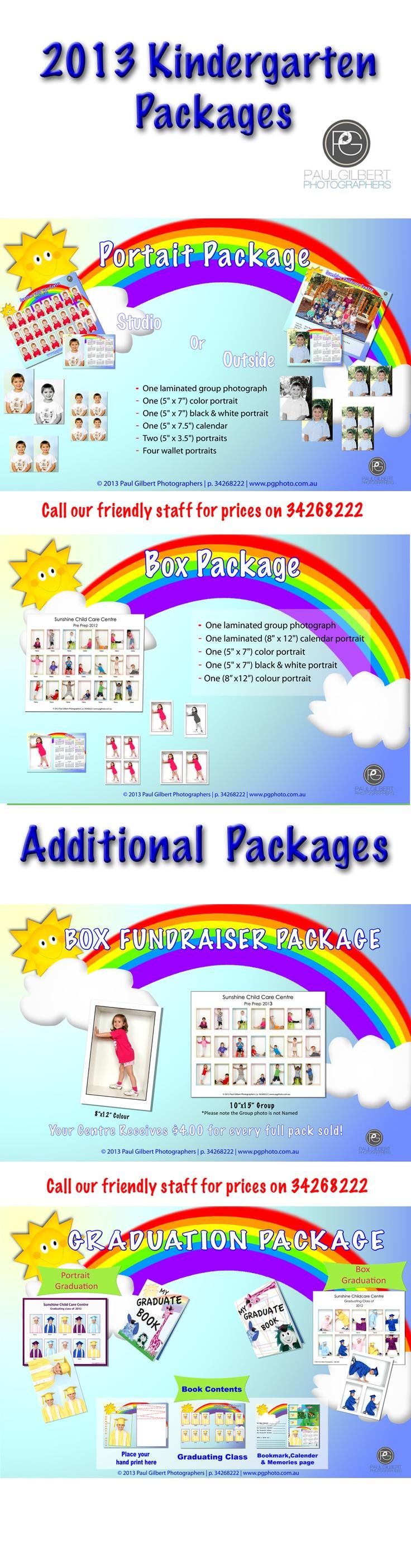 Kindergarten Photography Packages