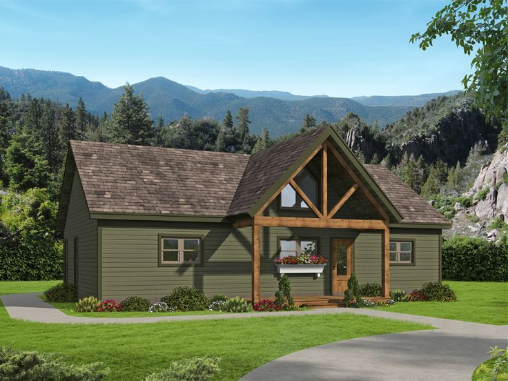 062h 0264 Rustic Empty Nester House Plan In 2021 House Plans Craftsman Style House Plans Empty Nester House Plans