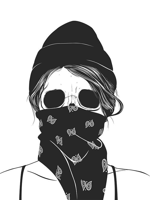 Skull Girl  - Gaks Designs  (Sticker packs available here: http://gaksdesigns.bigcartel.com/)