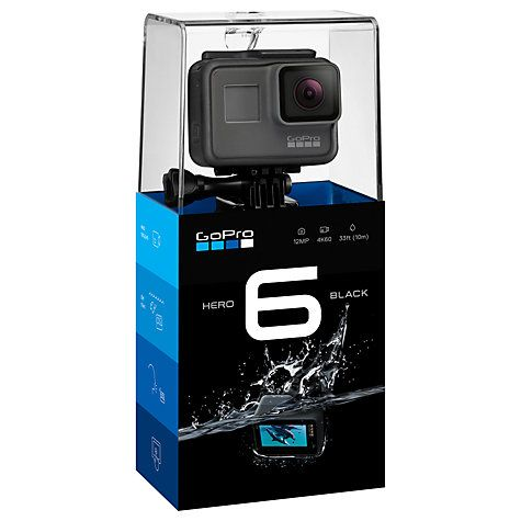 Buy GoPro HERO6 Black Edition Camcorder, 4K Ultra HD, 12MP, Wi-Fi, Waterproof, GPS (affiliate) #christmasgift #christmaspresent #christmas #christmasgiftguide #forhim #camera #gopro #camcorder