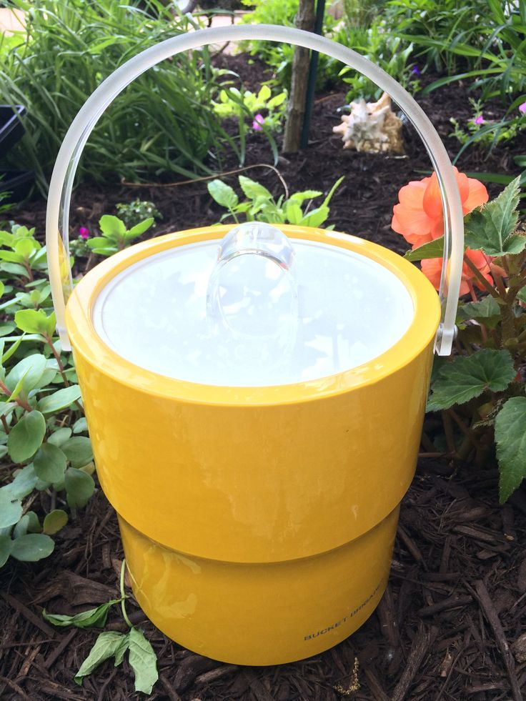 Mid Century Vintage Morgan Designs Yellow Ice Bucky by  Bucket Brigade Made in USA by SheBangArt on Etsy