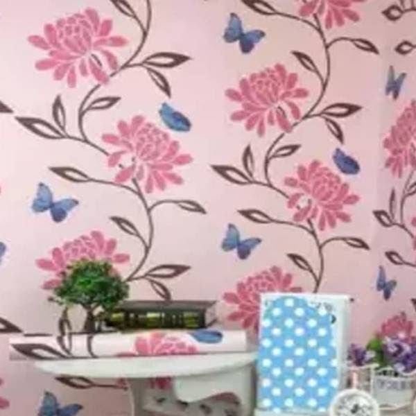 Wallpaper Dinding Biru Pink
