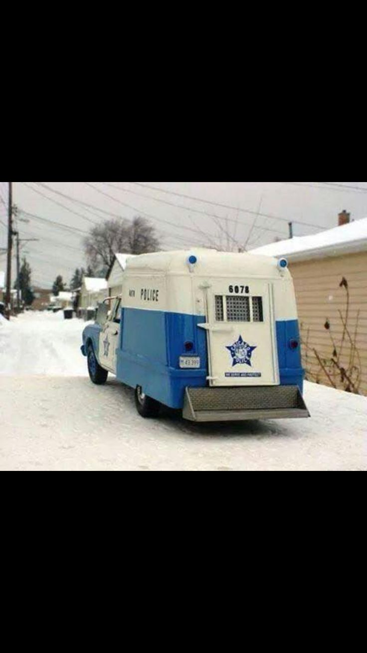 Chicago police squadrol; we called them 'Paddy Wagons'