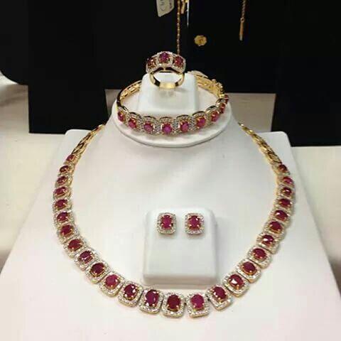Myanmar mogok ruby diamond necklace bangle tops and ring set in 18 k yellow gold.#mogokruby #rubydimondclassicdesign #beautifulruby #setinyellowgold #styleforall #beautifulstone #myanmar#myanmardesign #myburma #mydubai #londonmilanparis #foralljewellerylover #madeinmyanmar #mandalayinternational