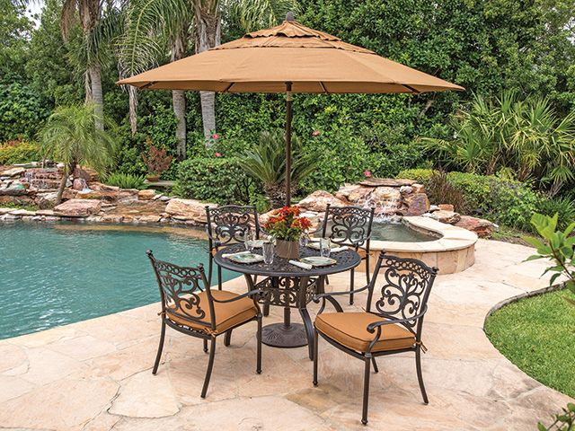 Milan Cast Aluminum 5 Pc. Dining Set With 48 Table $1199 Chair King