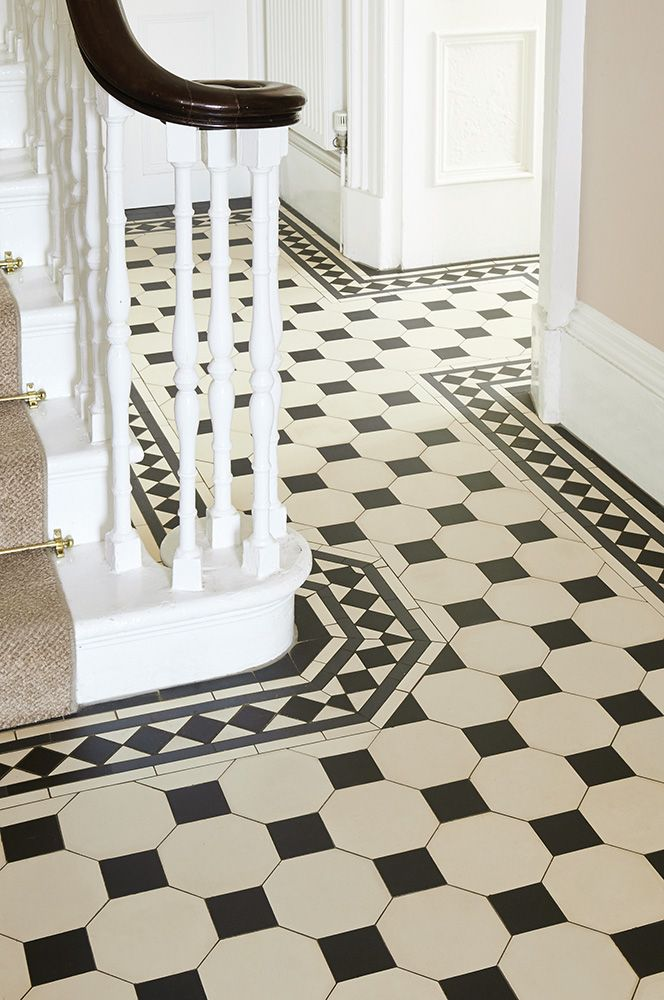 Pin by June Geesey on Exquisite Edwardian  Hall tiles Hallway flooring Tiled hallway