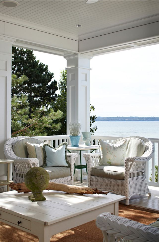 Located in Harbor Springs, Michigan, this lake cottage was once published in Traditional Home magazine and has become an inspiration for beach decor.