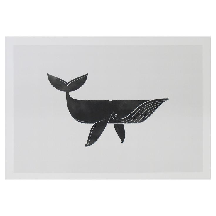 Smiling Whale Print | Howkapow