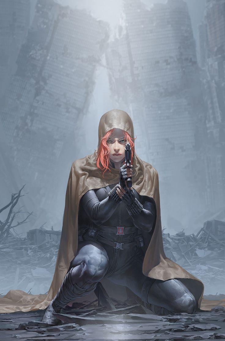 ArtStation - Black Widow, Junggeun Yoon