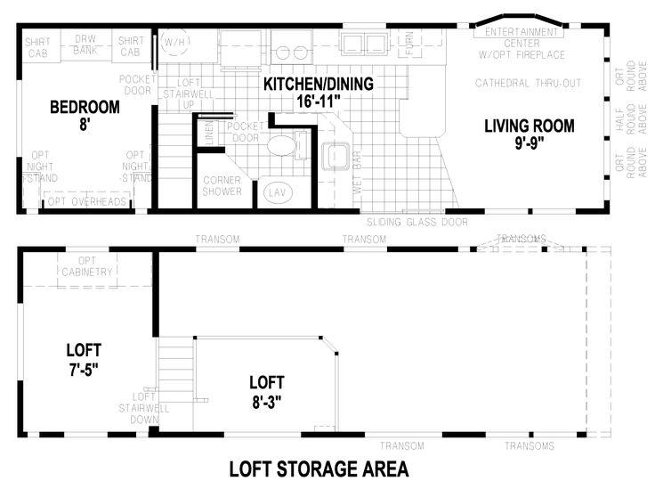 DuBois 12 X 35 Park Model RV Floor Plan | Factory Expo Park Models