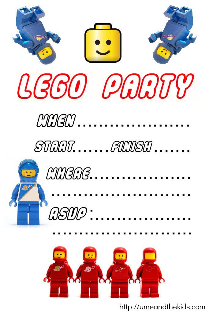 25 best Lego City Birthday ideas – Printable Lego Party Invitations
