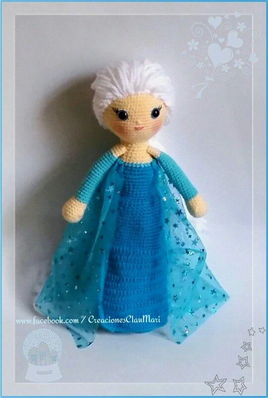 Mu 241 Eca Crochet La Princesa Elsa Frozen Amigurumi