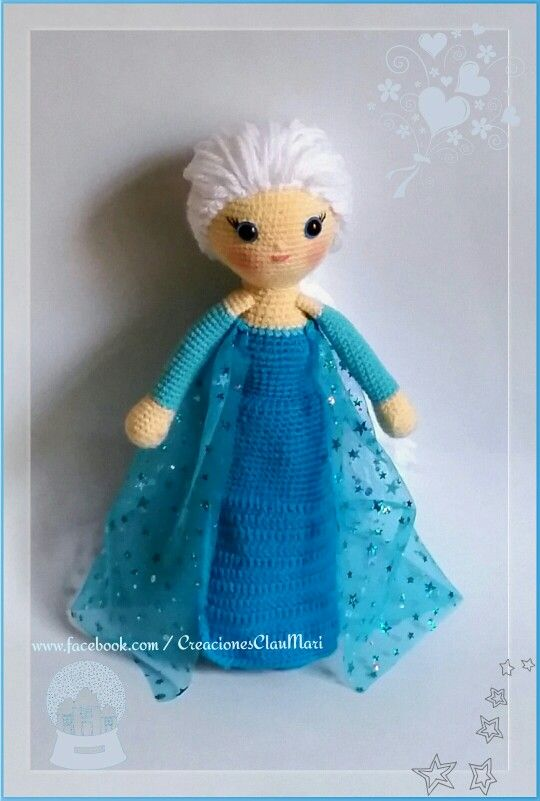 Muñeca crochet la princesa ELSA FROZEN | Amigurumi ...