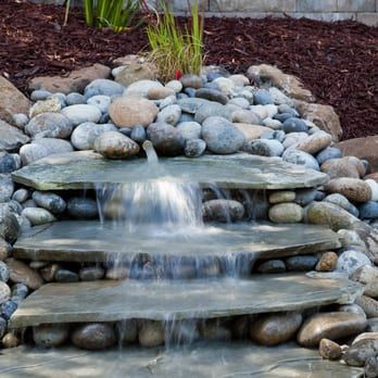 "A beautiful ""Pondless"" Water feature - Yelp"