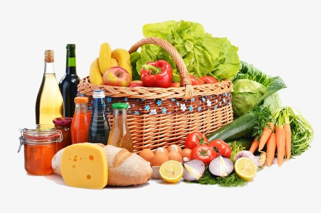 Shopping Basket Of Fruits And Vegetables Fruit And Vegetable Fresh Fruits Shopping Cart Png And Vector With Transparent Background For Free Download Food Market Global Recipes Grocery