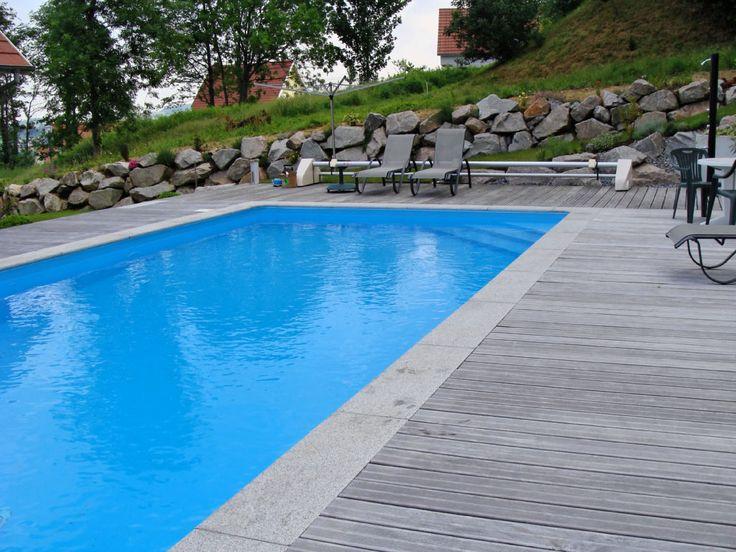 Best 25 margelle piscine ideas on pinterest for Piscine teck