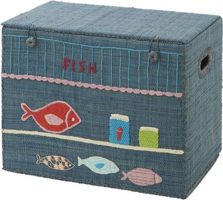 Förvaringskorg Fish Shop - Rice - RumAttÄlska.se