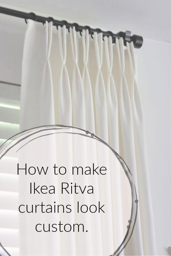 ikea hack…how to make ready made Ikea Ritva curtains look like expensive custom drapes