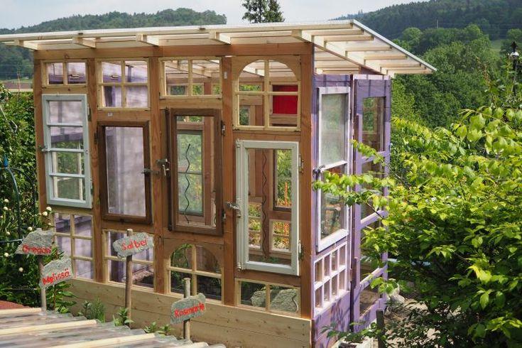 Gartenhaus/Gewächshaus aus alten Fenstern – Bauanleitung zum Selberbauen – 1-2-…