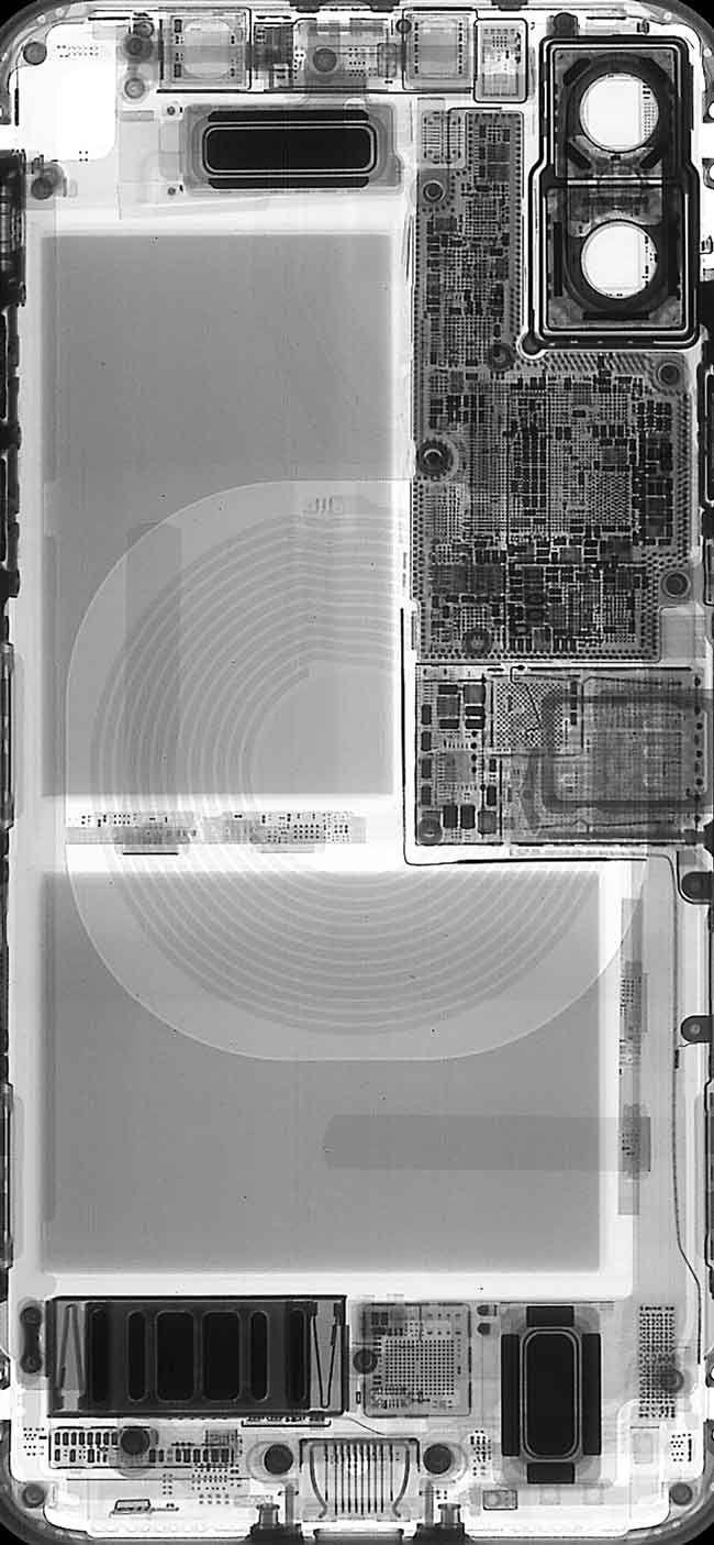 iphoneX 本体 内部 壁紙 高画質 ダウンロード 正面 icaes8 背後 X線