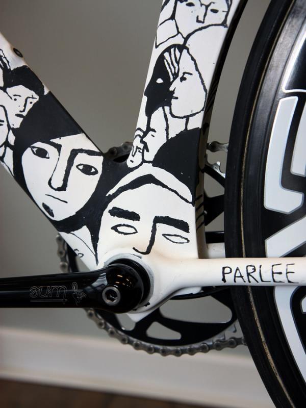Parlee bike frame detail