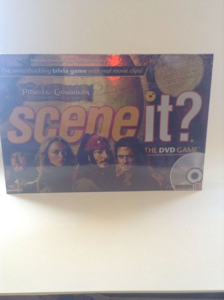 NIB Mattel Scene It? Pirates Of The Caribbean DVD Trivia Family Board Game  #Mattel