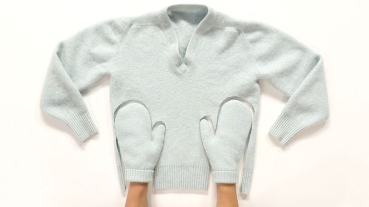 Watch Martha Stewart's Felted-Sweater Hand Mittens Video. Get more step-by-step instructions and how to's from Martha Stewart.