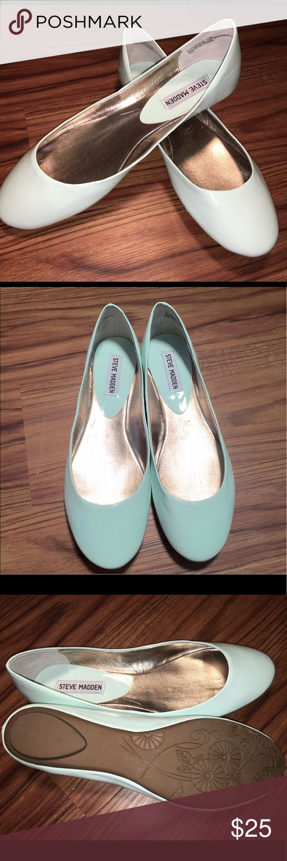 💠SOLD💠NWOT aqua patent leather Steve Madden flat 💠SOLD💠NWOT Steve Madden patent leather light Aqua flats. Size 10. Rubber soles. Brand new, no box, smoke free home. Super cute and perfect for spring florals and dresses. #steve #madden #10 #nwot #aqua #flats #shoes #spring ❌no trades❌ Steve Madden Shoes Flats & Loafers