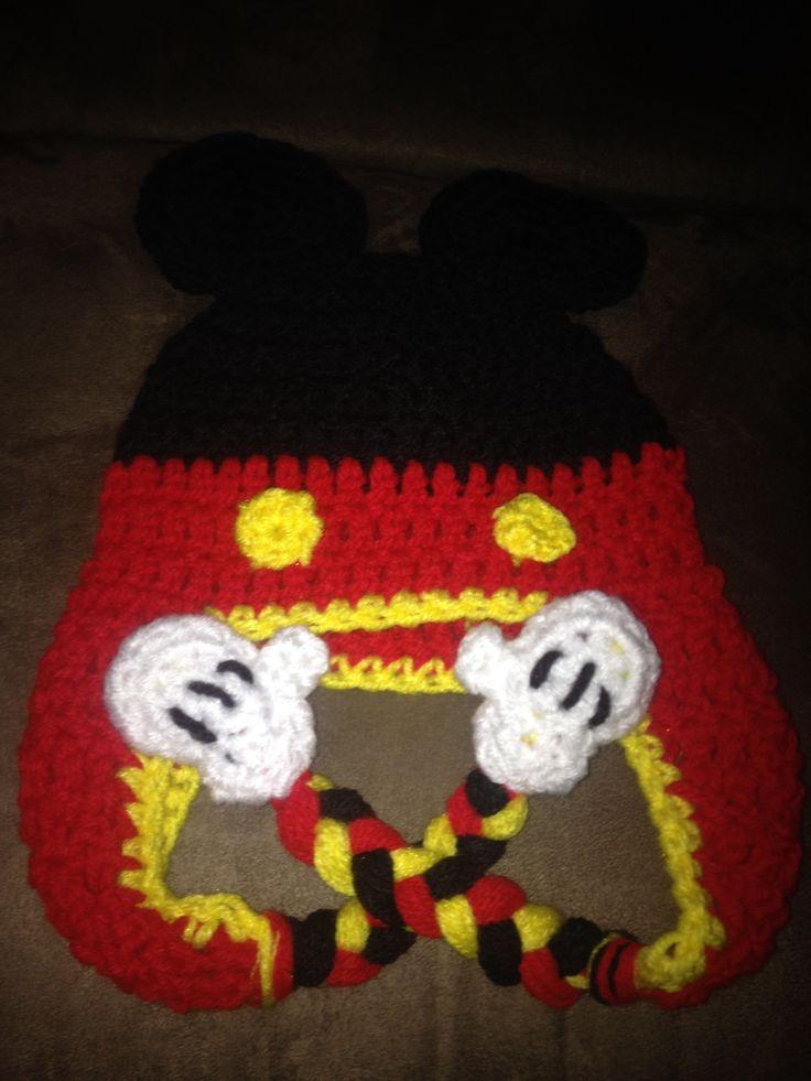 Asombroso Minnie Punto Patrón Del Sombrero Del Ratón Colección de ...