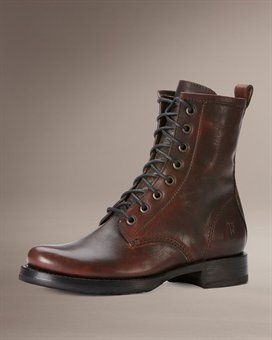 Veronica CombatFrye Company, Veronica Combat, Cowboy Boots, Lace Up Boots, Frye Boots, Dark Brown, Riding Boots, Womans Boots, Combat Boots