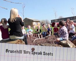 Brucehill Tots Speak Scots!  Brucehill Early Education and Childcare Centre involved parents in their children's literacy development, using the Scots language as a context for learning.